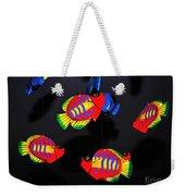 Psychedelic Flying Fish Weekender Tote Bag by Kaye Menner