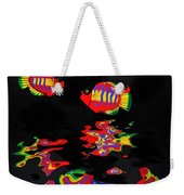 Psychedelic Flying Fish With Psychedelic Reflections Weekender Tote Bag
