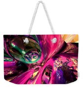 Psychedelic Fun House Abstract Weekender Tote Bag