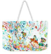Psychedelic Goddess With Toads Weekender Tote Bag