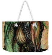 Psychedelic Green And Pink Weekender Tote Bag