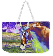 Psychedelic Horse Weekender Tote Bag