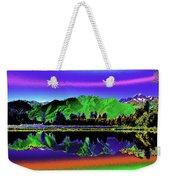 Psychedelic Lake Matheson Ner Zealand 3 Weekender Tote Bag