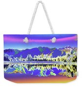 Psychedelic Lake Matheson New Zealand 2 Weekender Tote Bag