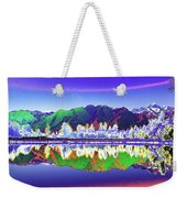 Psychedelic Lake Matheson New Zealand Weekender Tote Bag