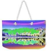 Psychedelic Mirror Lake New Zealand 3 Weekender Tote Bag