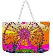 Psychedelic Sky Wheel Weekender Tote Bag