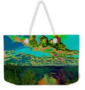 Psychedelic Skyline Over Spokane River #1 Weekender Tote Bag