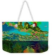Psychedelic Skyline Over Spokane River #2 Weekender Tote Bag
