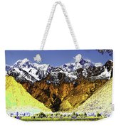 Psychedelic Southern Alps New Zealand Weekender Tote Bag