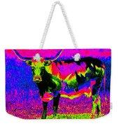 Psychedelic Texas Longhorn Weekender Tote Bag