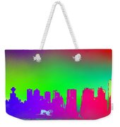 Psychedelic Vancouver Skyline Triptych Centre Weekender Tote Bag