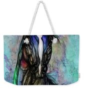 Psychodelic Blue And Green Weekender Tote Bag