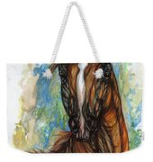 Psychodelic Chestnut Horse Original Painting Weekender Tote Bag