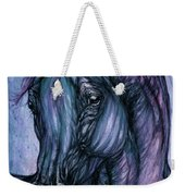Psychodelic Deep Blue Weekender Tote Bag
