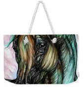 Psychodelic Pink And Green Weekender Tote Bag