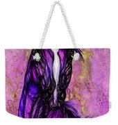 Psychodelic Purple Horse Weekender Tote Bag