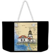 Pt Bonita Lighthouse Ca Nautical Chart Map Art Weekender Tote Bag