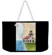 Pt Cabrillo Lighthouse Ca Nautical Chart Map Art Cathy Peek Weekender Tote Bag