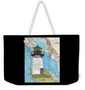 Pt Montara Lighthouse Ca Nautical Chart Map Art Cathy Peek Weekender Tote Bag