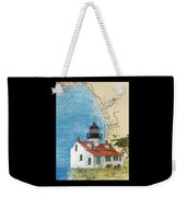 Pt Pinos Lighthouse Ca Nautical Chart Map Art Cathy Peek Weekender Tote Bag