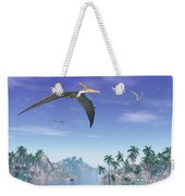 Pteranodon Birds Flying Above Islands Weekender Tote Bag