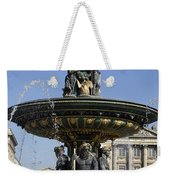Public Fountain At The Place De La Concorde In Paris France Weekender Tote Bag