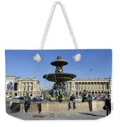 Public Fountain At The Place De La Concorde Weekender Tote Bag