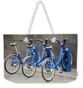 Public Shared Bicycles In Melbourne Australia Weekender Tote Bag