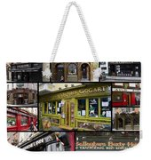 Pubs Of Dublin Weekender Tote Bag by David Smith