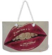 Pucker Up Weekender Tote Bag