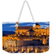 Puente Romano And Mezquita At Twilight In Cordoba Weekender Tote Bag