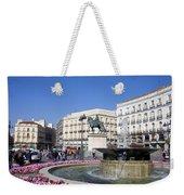 Puerta Del Sol In Madrid Weekender Tote Bag
