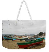 Puerto Lopez Beach And Boats Weekender Tote Bag