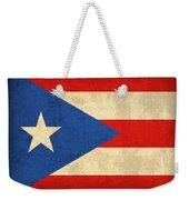 Puerto Rico Flag Vintage Distressed Finish Weekender Tote Bag by Design Turnpike