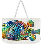 Puffer Fish Art - Puff Love - By Sharon Cummings Weekender Tote Bag