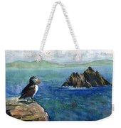 Puffin At Skellig Island Ireland Weekender Tote Bag