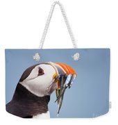 Puffin With Sandeels Portrait Weekender Tote Bag