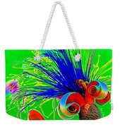 Puffy Bloom W Bee In Rainbow Weekender Tote Bag