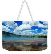 Puffy Clouds And Hot Springs Weekender Tote Bag