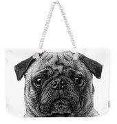 Pug Dog Black And White Weekender Tote Bag