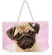 Pug Portrait Weekender Tote Bag by Greg Cuddiford