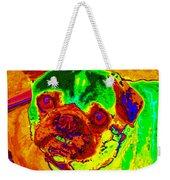 Pug Portrait Pop Art Weekender Tote Bag