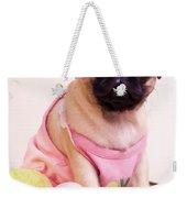 Pug Puppy Bath Time Weekender Tote Bag