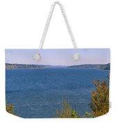Puget Sound Panoramic Weekender Tote Bag