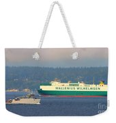Puget Sound Shipping Waterway Weekender Tote Bag