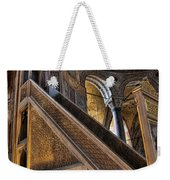 Pulpit In The Aya Sofia Museum In Istanbul  Weekender Tote Bag by David Smith
