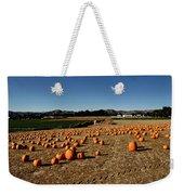 Pumpkin Field Weekender Tote Bag