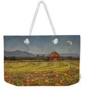 Pumpkin Field Moon Shack Weekender Tote Bag