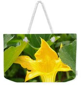 Pumpkin Flower Weekender Tote Bag